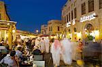 Souq Waqif at dusk, Doha, Qatar, Middle East