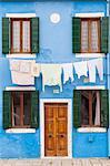 A colorful house on Burano, Venice, Veneto, Italy, Europe