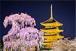 Todai-ji pagoda in the springtime in Kyoto, Japan.