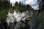 Famous Marble quarry (Ruskeala) in Republic of Karelia, Russia