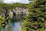 Famous Marble quarry, Ruskeala, in Republic of Karelia, Russia