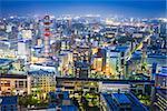 Sendai, Yamagata Prefecture, Japan downtown cityscape at night.