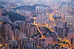 View of apartment blocks, Kowloon, Hong Kong