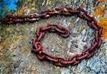 Old boat chain, Lindisfarne (Holy Island), Northumberland, UK