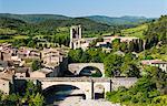 Medieval village of Lagrasse, member of the Les Plus Beaux Villages de France association (The most beautiful villages of France), Languedoc-Roussillon, France