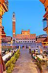 Italy, Tuscany, Siena district, Siena. Piazza del Campo. The Square.
