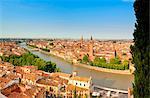 Italy, Italia Veneto, Verona district. Verona. View from Castel San Pietro.