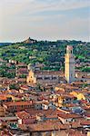 Italy, Italia Veneto, Verona district. Verona. Cathedral and view towards Veronetta quarter.