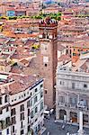 Italy, Veneto, Verona district, Verona. View from Lamberti tower. Piazza Erbe.