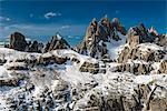 Panoramic view over the Cristallo and Sorapis mountain groups, Dolomites, Veneto, Italy
