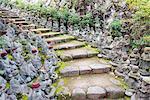 Asia, Japan, Honshu, Hiroshima prefecture, Miyajima Island, statues in Daisho in temple