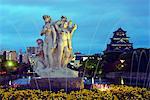 Asia, Japan, Honshu, Hiroshima prefecture, Hiroshima, Hiroshima castle