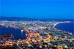 Asia, Japan, Hokkaido, Hakodate Bay night view