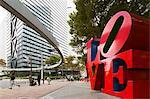 Asia, Japan, Honshu, Tokyo, Shinjuku, Love sculpture by Robert Indiana