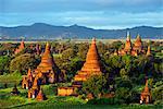South East Asia, Myanmar, Bagan, temples on Bagan plain
