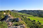 Vale dos Barris and Louro mountain range at the Arrabida Nature Park. Portugal