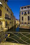 Canal and bridge at night, Venice, Italy
