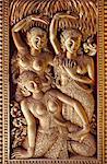 Golden relief at Luang Prabang, Laos