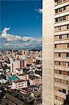 Elevated view of buildings in Quito, Ecuador