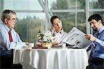 Businesspeople taking a break in cafe
