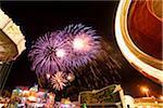 Fireworks at Public Festival at Night, Neumarkt in der Oberpfalz, Upper Palatinate, Bavaria, Germany