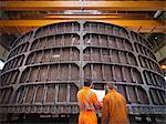Engineers inspecting marine fabrication