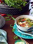 Still life of hu tieu do dien hero, vietnamese meal