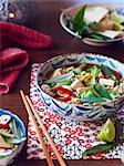 Still life of hu tieu mi di, ingredients for vietnamese meal
