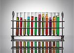 Chemistry test tubes multi coloured