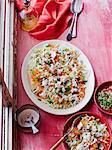 Shredded cabbage, sesame and feta salad