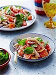Tomato, basil and pasta salad