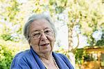Portrait of female senior, close-up