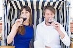 Couple having drink