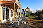 Vacation homes on Block Island, Rhode Island, USA
