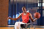 Man who had Spinal Meningitis in wheelchair playing basketball