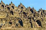 The temple complex of Borobodur, UNESCO World Heritage Site, Java, Indonesia, Southeast Asia, Asia