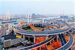 Nanpu Bridge over Huangpu River, Shanghai, Shanghai Shi, Zhonghua, China