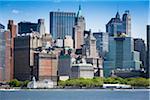 Battery Park and Lower Manhattan Skyline, New York City, New York, USA