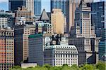 Lower Manhattan Skyline at Battery Park, New York City, New York, USA