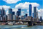 Brooklyn Bridge and Manhattan Skyline, New York City, New York, USA