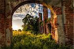 A nice view of abandoned farm near Milan,italy.