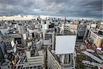 Aerial view over Shibuya Ward in Tokyo, Japan.