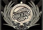 emblem beer barrel and barley for the menu