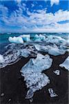 Icebergs on the beach at Jokulsarlon, Iceland