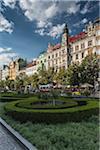 Wenceslas Square, Prague, Bohemia, Czech Republic
