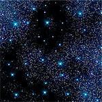 Stars against a black background, computer artwork.