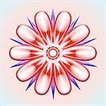 Flower Head Creative Abstract Design
