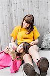 Two teenage girls, Sweden