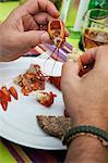 Eating crayfish, Sweden