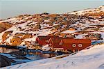 Fishing huts at sea, Bohuslan, Sweden